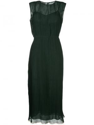 Платье без рукавов Rochas. Цвет: зелёный