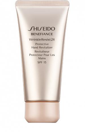 Восстанавливающий крем для рук Benefiance WrinkleResist24 SPF15 Shiseido. Цвет: бесцветный