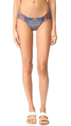 Плавки бикини со сборками по бокам Mara Hoffman. Цвет: radial fig
