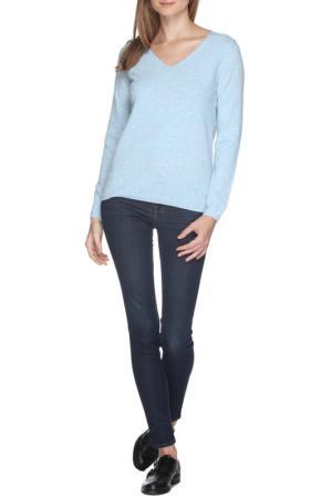 Пуловер HENRY COTTONS COTTON'S. Цвет: голубой
