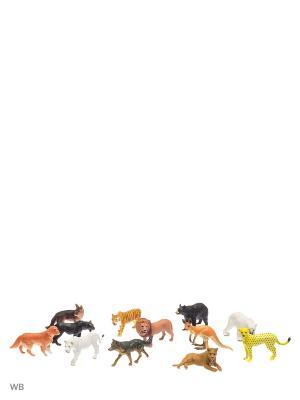Животные S-S. Цвет: коричневый, желтый, белый, черный