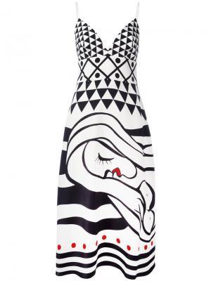 Платье с абстрактным принтом La Mania. Цвет: чёрный
