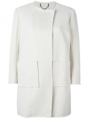 Свободное пальто Dorothee Schumacher. Цвет: белый