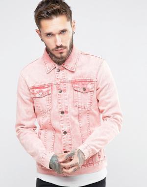 Always Rare Розовая джинсовая куртка. Цвет: розовый