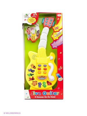 Музыкальная игрушка Гитара Shantou Gepai. Цвет: желтый, белый, голубой, красный