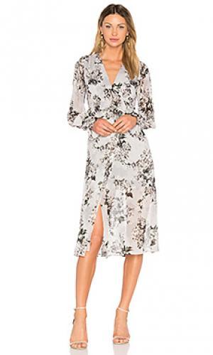Платье с запахом Lover. Цвет: аспидно-серый