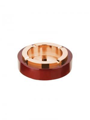 Пепельница  круглая без крышки S.QUIRE. Цвет: коричневый, золотистый