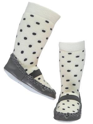 Туфли домашние NAME IT. Цвет: серый