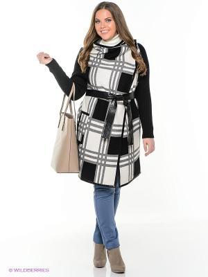 Пальто Sinta Via. Цвет: черный, белый
