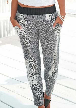 Пляжные брюки Buffalo London. Цвет: серый с рисунком