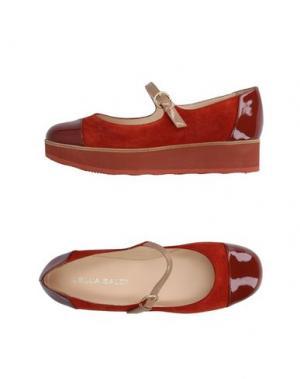Туфли LELLA BALDI. Цвет: кирпично-красный