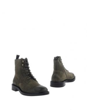 Полусапоги и высокие ботинки BOEMOS. Цвет: зеленый-милитари