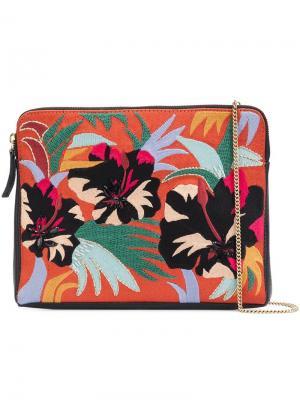 Клатч Cuban Hibiscus Lizzie Fortunato Jewels. Цвет: многоцветный