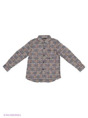 Рубашка Sisley Young. Цвет: бежевый, розовый, серый