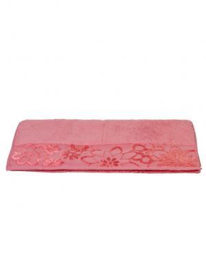 Махровое полотенце 70x140 DORA розовое,100% хлопок HOBBY HOME COLLECTION. Цвет: розовый
