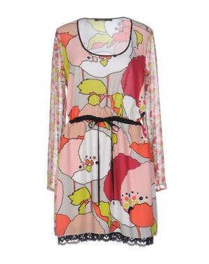 Короткое платье PIANURASTUDIO. Цвет: светло-розовый