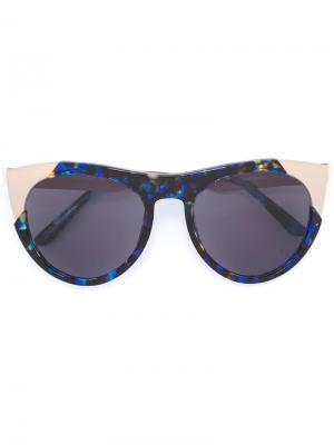 Солнцезащитные очки Zoubisou Smoke X Mirrors. Цвет: синий