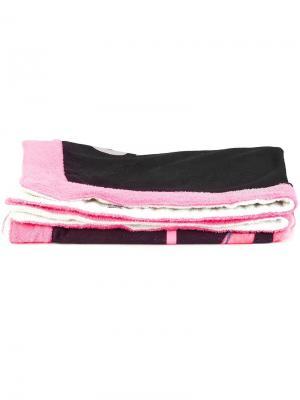 Пляжное полотенце с принтом фламинго Moschino. Цвет: чёрный