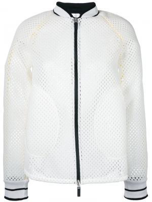 Сетчатая куртка-бомбер Sàpopa. Цвет: белый