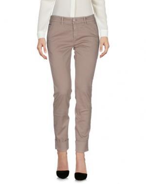 Повседневные брюки CARE LABEL. Цвет: голубиный серый