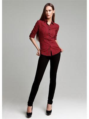 Блуза MOSKO. Цвет: черный, красный