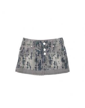 Джинсовая юбка CUSTO GROWING. Цвет: серый