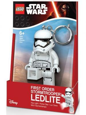 Брелок-фонарик для ключей LEGO Star Wars-Штурмовик (Первый орден). Цвет: черный, белый
