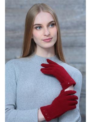Перчатки Krife. Цвет: бордовый