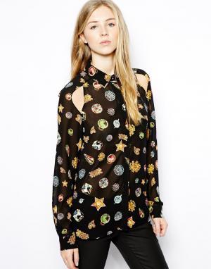 Рубашка с принтом  Tess Jovonnista. Цвет: черный