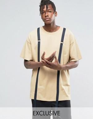 Reclaimed Vintage Oversize-футболка. Цвет: рыжий