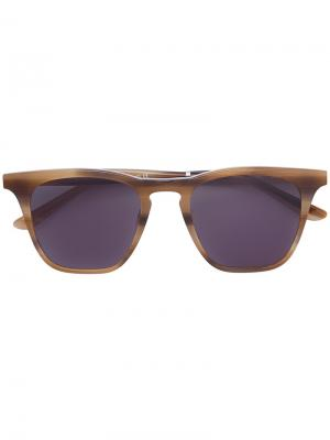 Солнцезащитные очки Coney Island Smoke X Mirrors. Цвет: металлический