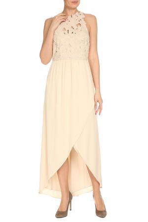 Платье Saylor. Цвет: бежевый