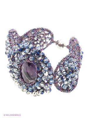 Браслет Antonella Marinelli. Цвет: синий, серебристый, фиолетовый