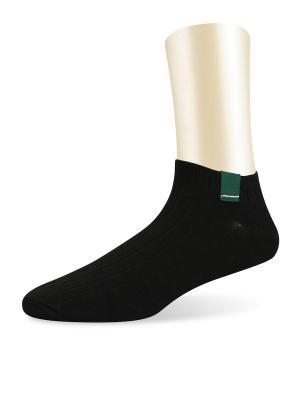 Носки спортивные короткие -комплект 2 пары Glamuriki. Цвет: черный, зеленый