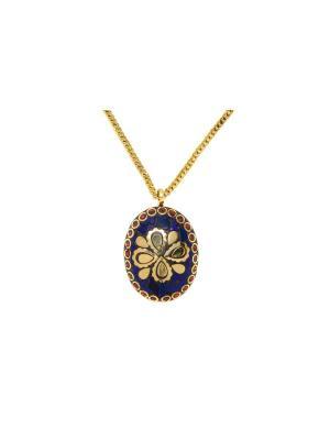 Индийская подвеска Лазурит и бронза Indira. Цвет: золотистый