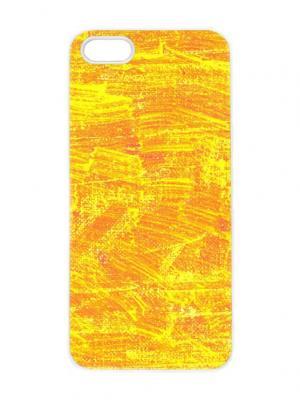 Чехол для iPhone 5/5s Желтая абстракция Chocopony. Цвет: светло-желтый, светло-оранжевый