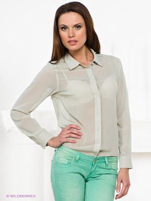 Блузка Natali Silhouette. Цвет: светло-бежевый, зеленый