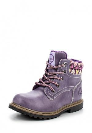 Ботинки Obba. Цвет: фиолетовый