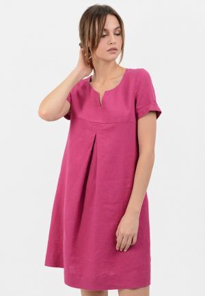 Платье Lino Russo. Цвет: розовый