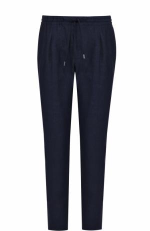 Льняные брюки свободного кроя Bilancioni. Цвет: темно-синий