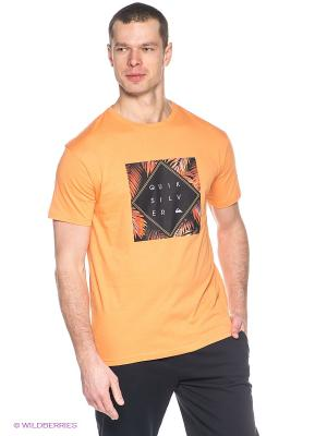 Футболка CLASSIC TEE A15 Quiksilver. Цвет: оранжевый