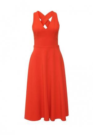 Платье Warehouse. Цвет: оранжевый