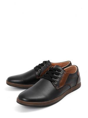 Туфли Berten.. Цвет: черный