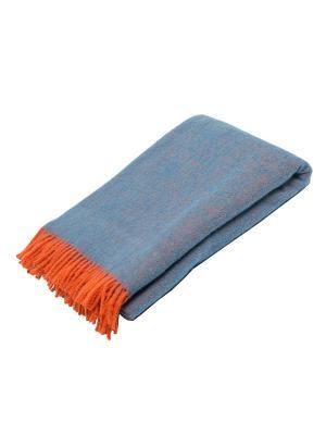 Плед РУНО. Цвет: голубой, оранжевый