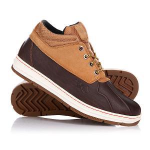 Кеды кроссовки высокие  Shellduck Low Boot Le Brown/Honey K1X. Цвет: коричневый