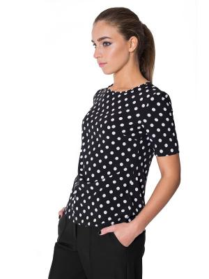 Блузка Miss & Missis. Цвет: черный