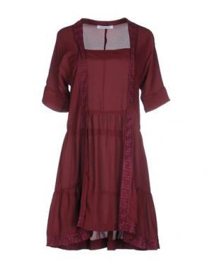 Короткое платье GAT RIMON. Цвет: баклажанный