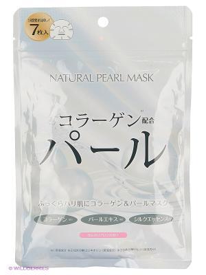 Japan Gals Курс натуральных масок для лица с экстрактом жемчуга 7 шт. Цвет: прозрачный