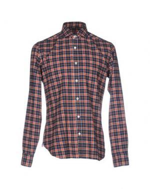 Pубашка DANDYLIFE by BARBA. Цвет: ржаво-коричневый