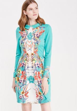 Платье Katya Erokhina. Цвет: бирюзовый